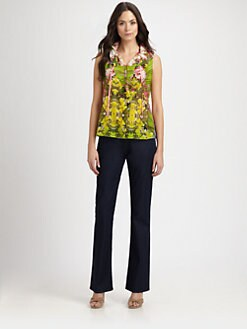 Elie Tahari - Selena Stretch Silk Blouse