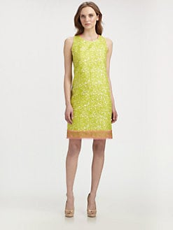Elie Tahari - Venezia Cotton/Silk Dress