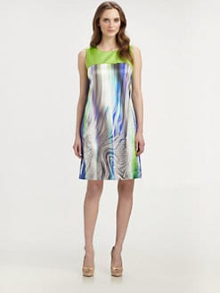 Elie Tahari - Ginny Stretch Silk Dress