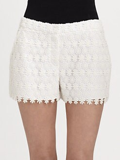 Elie Tahari - Patrice Embroidered Lace Shorts