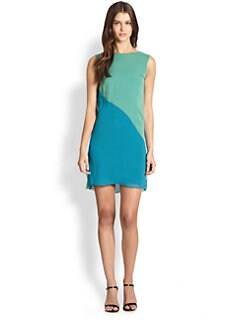 Elie Tahari - Silk Colorblock Dress