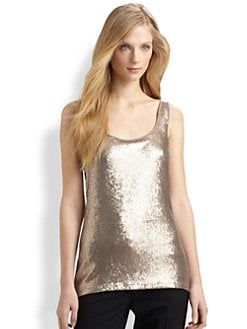 Elie Tahari - Nancy Sequin-Front Top