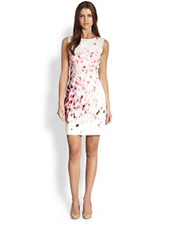 Elie Tahari - Stretch Cotton Print Dress