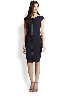 Elie Tahari - Zip-Front Sheath Dress
