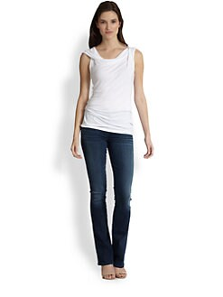 Elie Tahari - Drape-Neck Top
