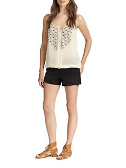 Joie - Kaline Silk Embroidered Tank