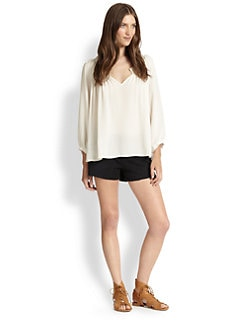 Joie - Intima Hammered Silk Blouse