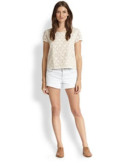 Joie - Caisley Cotton Crocheted Top