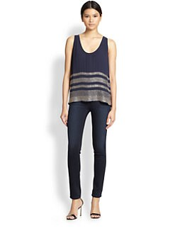 Joie - Yveline Silk Beaded Tank