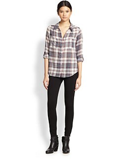 Joie - Cartel Plaid Cotton  Blouse