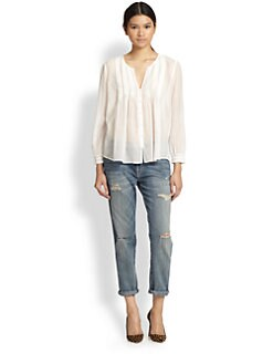 Joie - Melisse Cotton & Silk Blouse