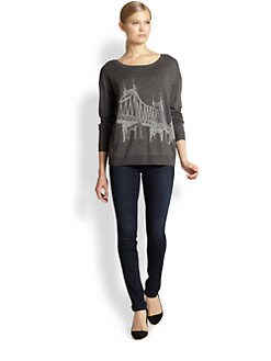 Joie - Eloisa NYC Bridge-Print Sweater