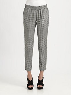 Joie - Cheney Geo-Printed Silk Pants