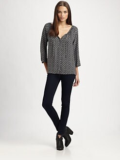 Joie - Malki Printed Silk Top
