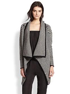 Joie - Mathisa Striped Wool/Cashmere Draped Cardigan