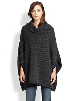Joie - Stellan Chunky-Knit Wool/Cashmere Poncho