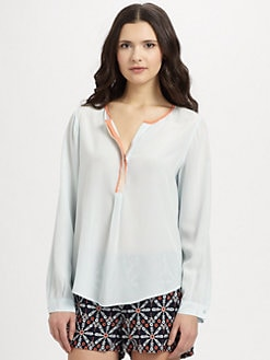 Joie - Silk Colorblock Blouse