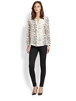 Joie - Purina Leopard-Print Silk Blouse
