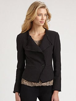 Joie - Carver Asymmetric Cropped Jacket