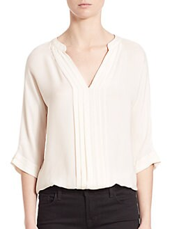Joie - Pleated Silk Blouse