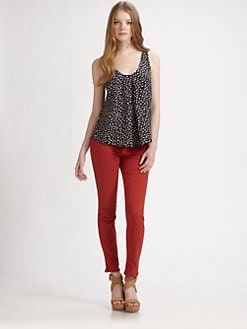 Joie - Anouk Scratch Dot Silk Top