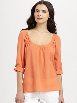 Joie - Heron Crepe Cotton Blouse