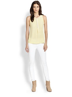 Joie - Surkin Colorblock Silk Blouse