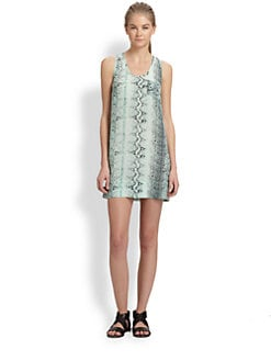 Joie - Exclusive Peri Snakeskin Print Silk Dress