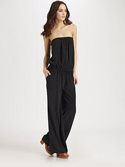 Joie - Joan Silk Strapless Jumpsuit