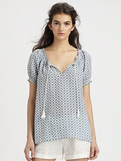 Joie - Masha Silk Printed Top