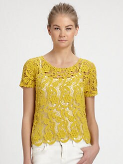 Joie - Devine Crochet Lace Top