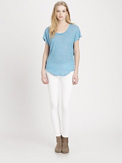 Joie - Maddie Striped Slub Linen Tee