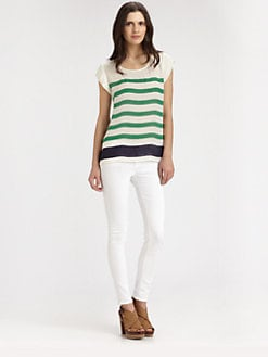 Joie - Terry Striped Silk Blouse