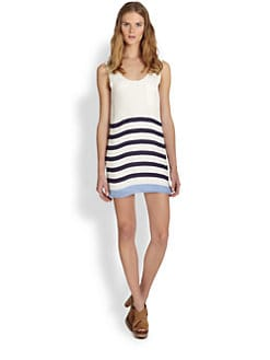 Joie - Dawna Striped Silk Scoopback Dress