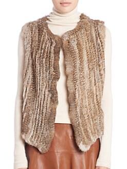 Joie - Andoni Rabbit Fur Vest