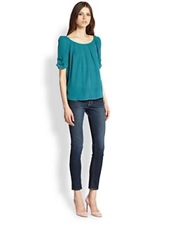 Joie - Eleanor Cotton Sateen Top
