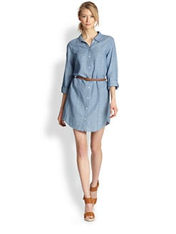 Joie - Tarellia Chambray Belted Shirtdress
