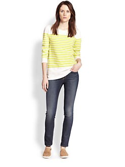 Joie - Abina Striped Cotton Tee
