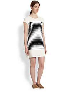 Joie - Courtina Striped Cotton Tee Dress