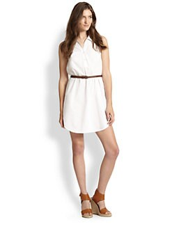 Joie - Darlena Belted Cotton Shirtdress