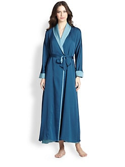 Donna Karan - Laundered Satin Long Robe