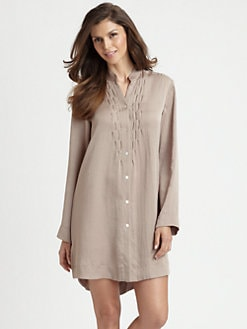 Donna Karan - Laundered Satin Sleepshirt
