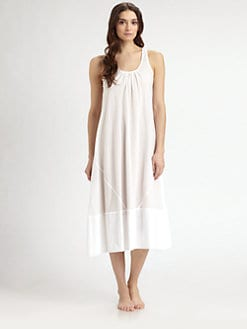 Donna Karan - Woven Cotton Long Gown