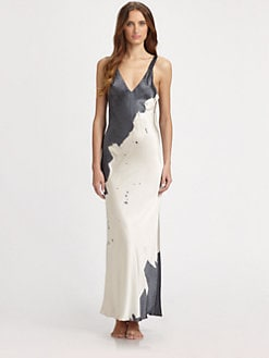 Donna Karan - Silk Brushstroke Long Gown