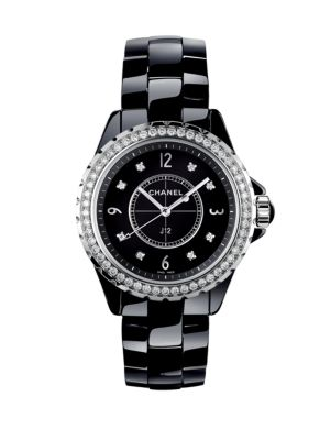 J12 Diamond, Ceramic & Stainless Steel Bracelet Watch