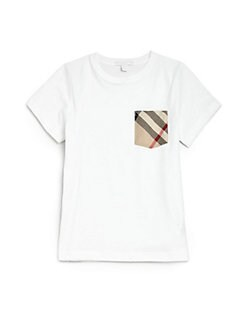 Burberry - Boy's Check Pocket Tee