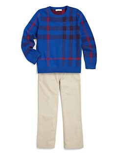 Burberry - Boy's Check Sweater