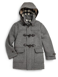 Burberry - Boy's Wool Duffle Coat