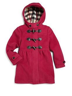 Burberry - Girl's Wool Duffle Coat