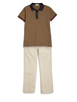Burberry - Boy's Colorblock Polo Shirt